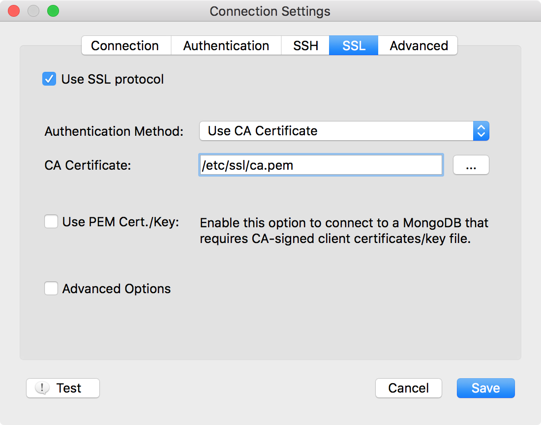 Robomongo RC10 brings support to SSL