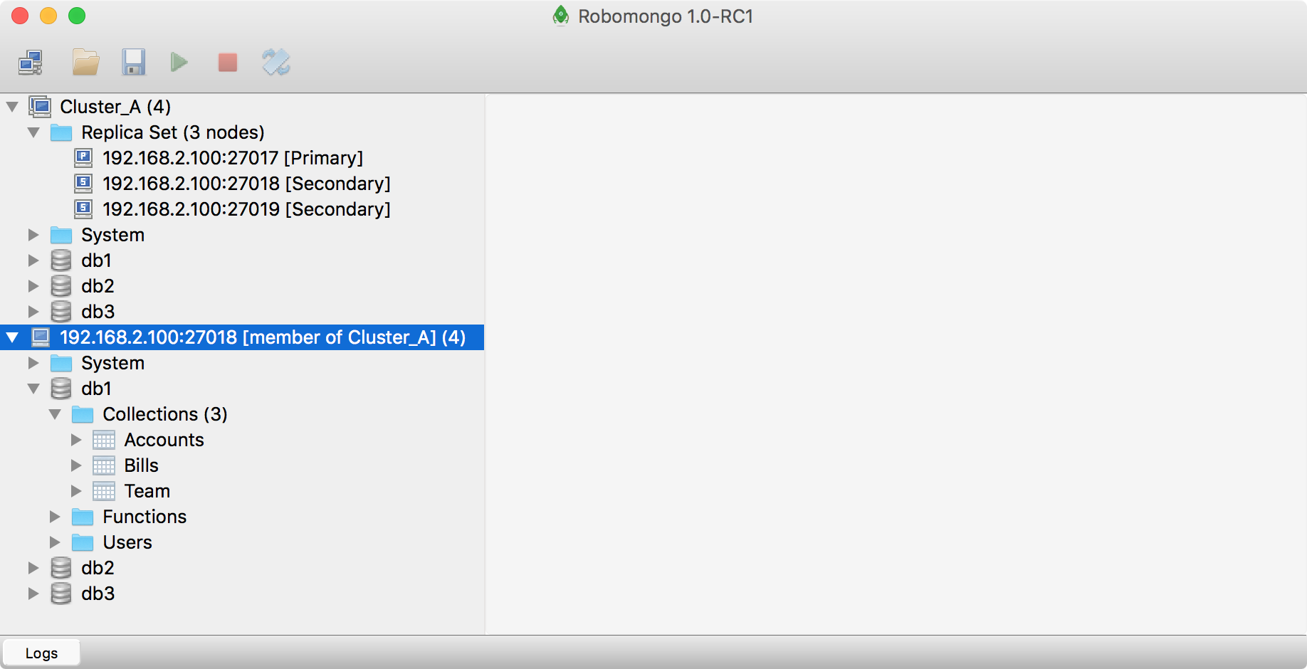 Robomongo 1 0 RC1 brings support to Replica Set Clusters