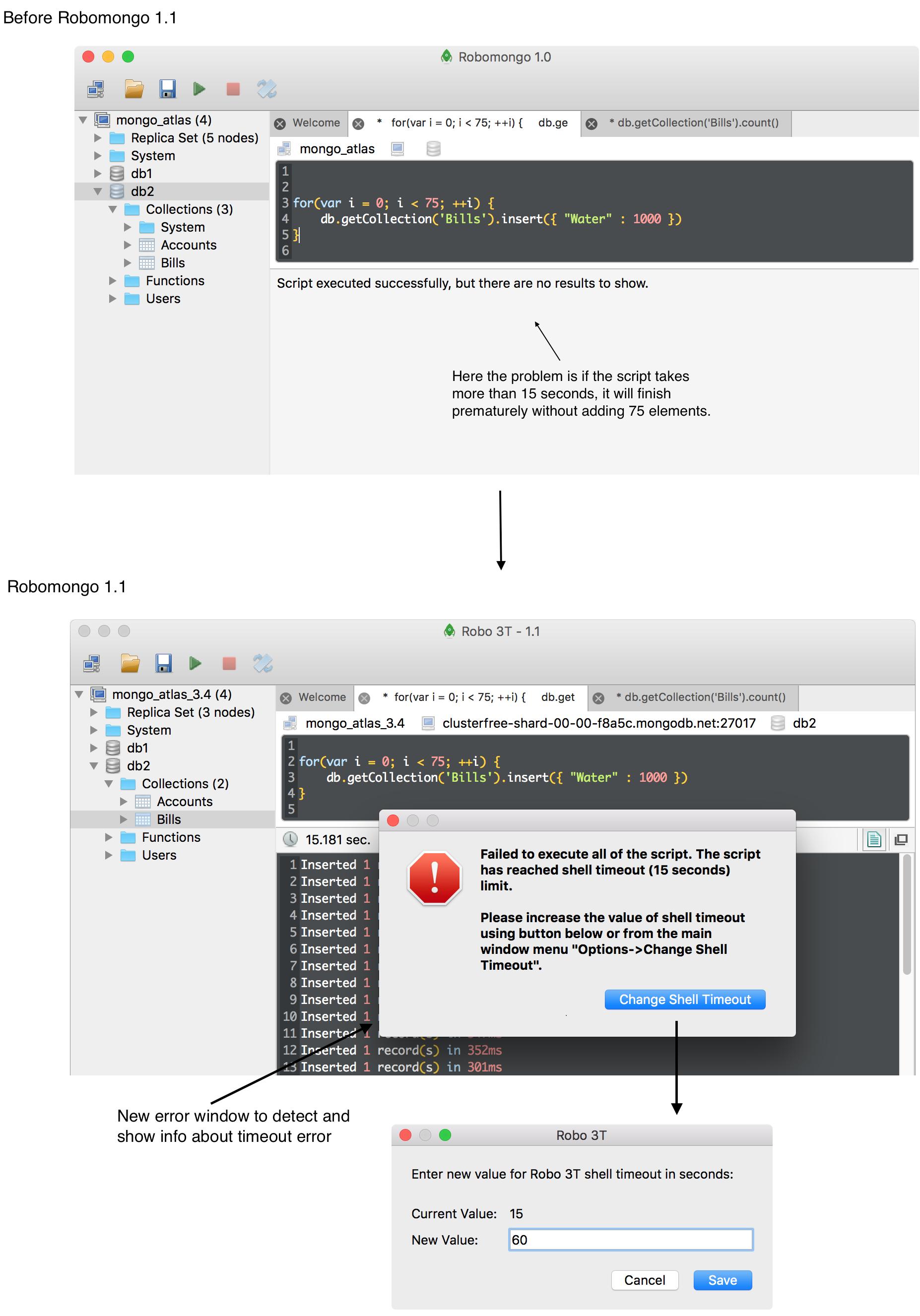 Robomongo is now Robo 3T, with MongoDB 3 4 support